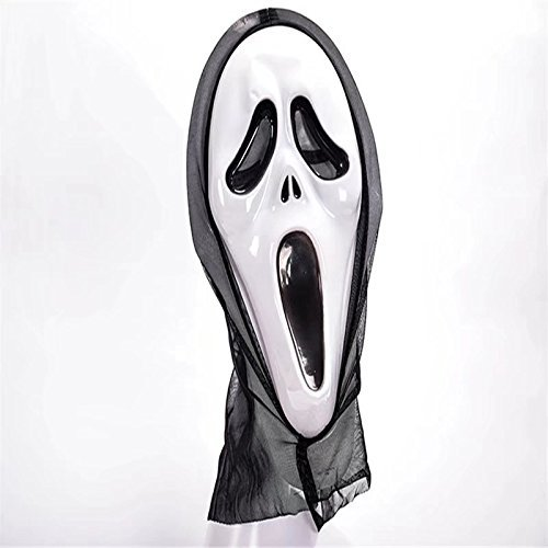 Scary Scream Costumes (OOPP Halloween Devil Scream Mask,Costume Party Scream Mask,Creepy Scary Ghosts Masks for halloween horror nights 1 Pcs (Screaming Image))