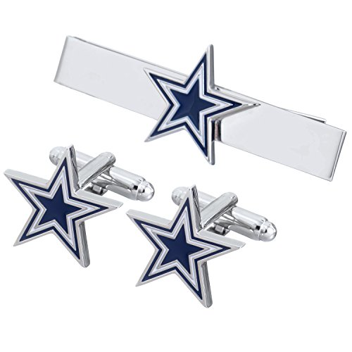 - Promotioneer Men's The Team Logo Symbol Series Cufflinks and Tie Clip with Gift Box (11)