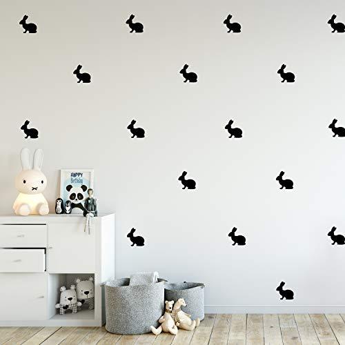 (Set of 12 Vinyl Wall Art Decals - Bunnies - 4