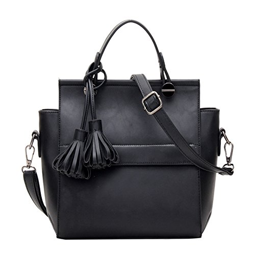 cloudbag-hb30073-pu-leather-handbag-for-womensimple-solid-bucket-bagblack
