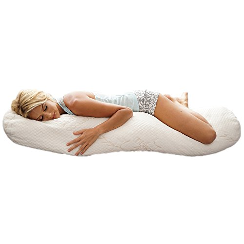 Woosa - by Back Support Systems Body Pillow - Organic Latex Interior & Plush Bamboo Cover - Provides Full Body Orthopedic Support & Pain Relief for Back, Hips, Shoulders & Neck