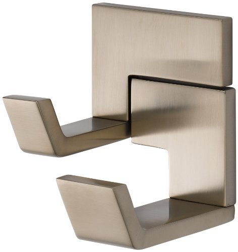 Double Hook Brizo Robe - Brizo 693580 Double Robe Hook from the Siderna Collection, Brushed Nickel