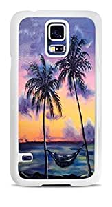 Maui Tropical Sunset White Hardshell Case for Samsung Galaxy S5 by icecream design