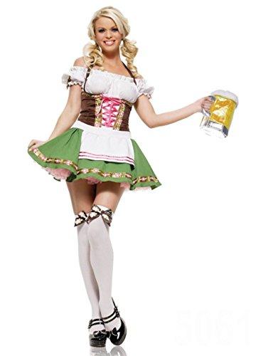 [ZNFQC Men Women Beer Sweethearts Outfit Halloween Kid Beer Festival Costume (S, Women Beer Festival] (German Beer Girl Costume Ideas)
