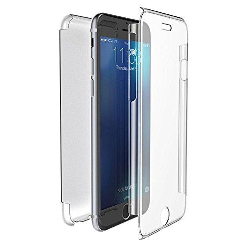 VSHOP ® Coque DOUBLE GEL Silicone Protection INTEGRAL pour le Smartphone APPLE IPHONE 6/6S -(4,7pouces) Transparent INVISIBLE