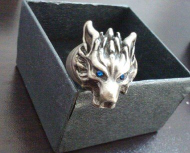 Final Fantasy Wolf Ring Blue
