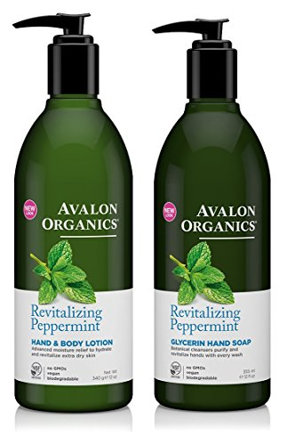 Avalon Organics Peppermint Glycerin Hand Soap and Hand & Bod