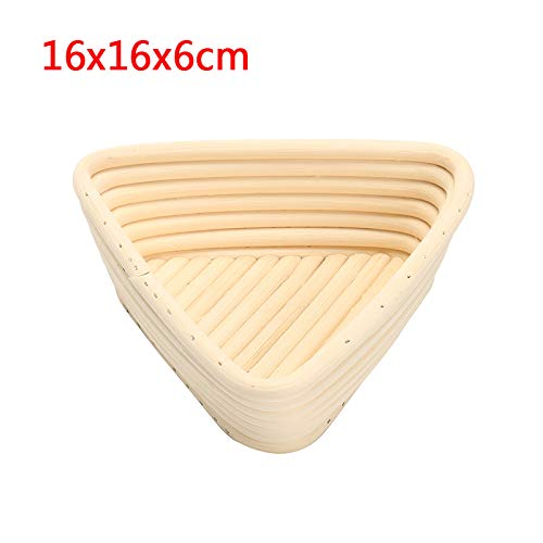 Banneton Proofing Basket - Size Triangle Dough Fermentation Rattan Basket Banneton Brotform Bread Proofing Proving Basket Bread Rattan Basket With Bag - by SHA - 1 PCs by SHA (Image #3)