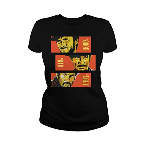 Zinko Women's The Good, The Bad and The Ugly Ladies T-Shirt (3XL, Black) -