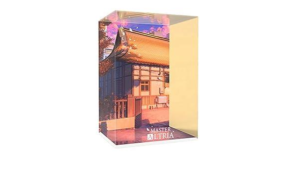 Pantalla Ropa Master School cambiar el destino de almacenamiento Sabre Modelo acrílico luz LED caja hecha a mano GK cubierta de polvo Longitud Ancho 18 * 14 * 26cm Altura (Color :