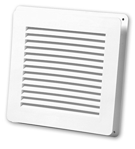 Duraflo 646025-00 Wall Vent with Collar, 6-Inch, White (00 Wall)