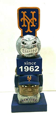 (New York Mets since 1962 Vintage Tiki Totem Lawn Garden Statue all weather MLB)