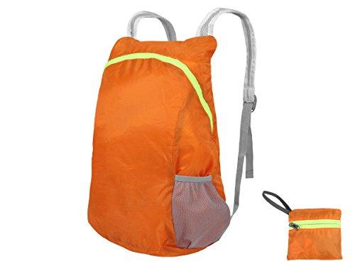 Faltbarer Rucksack ultraleicht Trekking Tasche 30x45cm11,5L Wandern Reisen Outdoor von Alsino RUCK d-04 orange