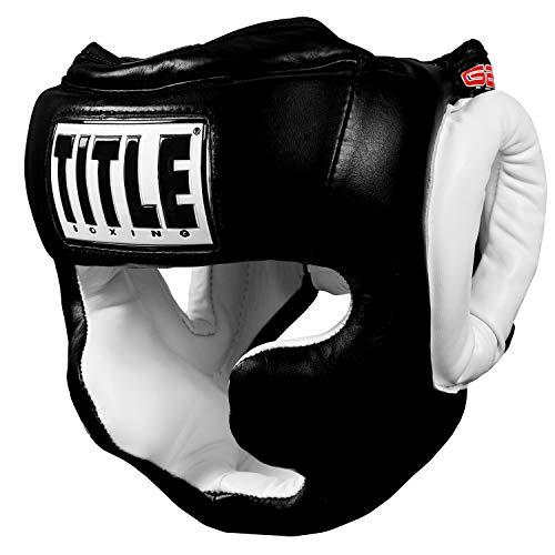 Title Mma Training - TITLE Gel World Full-Face Training Headgear, Black, Large
