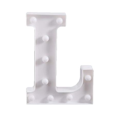 F Fityle Mando a Distancia iluminación Luces LED Letras ...