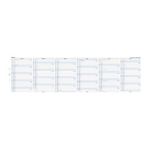 2018 Pocket Vertical Planner Refill, English, Jan 2018- Dec 2018, 4.75 x 3.25 inches (C68202-18) Photo #2