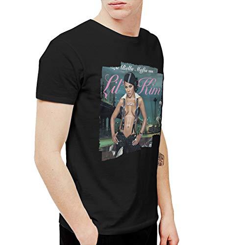 TticusC Men's Lil' Kim La Bella Mafia T Shirts Black M