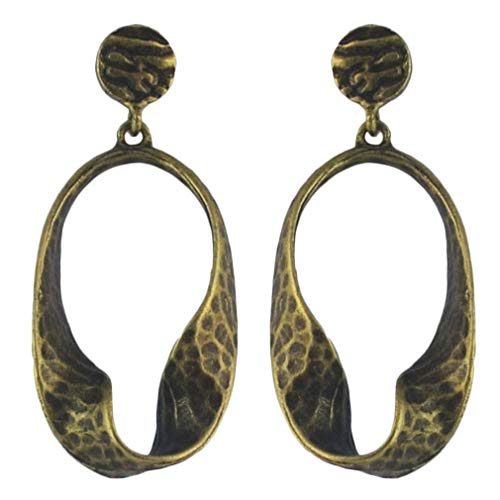 YAZILIND Women Boho Dangle Drop Earrings Vintage Hoops Stud Earrings Statement Retro Ethnic Ear Jewelry Bronze