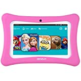 beneve Andriod 7.1 Tablet For Kids, 7 Inch Tablet PC With 1GB RAM 8GB ROM Kids Tablets Include Wifi, Kids Software Iwawa Pre-Installed, Kid-Proof Case (Pink)