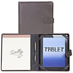 Scully Plonge Leather Tablet Padfolio Brown