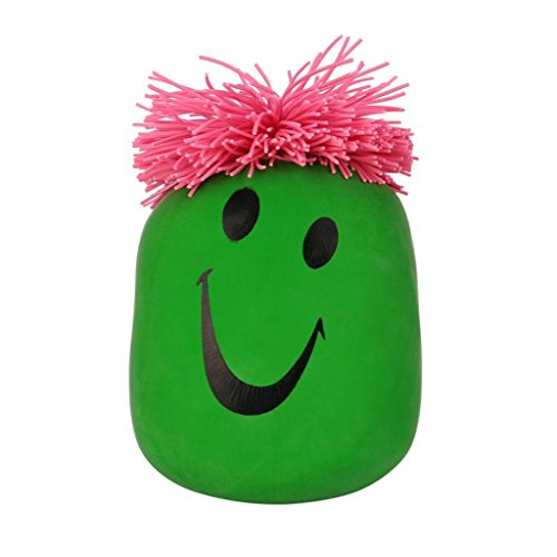 Price comparison product image Squishies Toys, Stretchy Smile Face Stress Ball Squeeze Toy Stress Relief Time Killing Toy (Green)