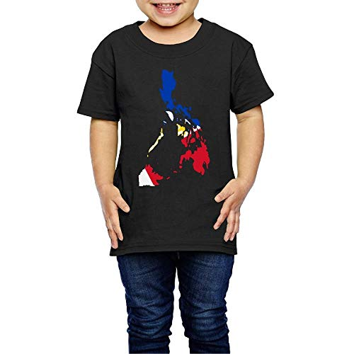 Flag Map of The Philippines Costume Toddler/Infant Crewneck Short Sleeve Shirt Tee Jersey for 2-6 Toddlers -