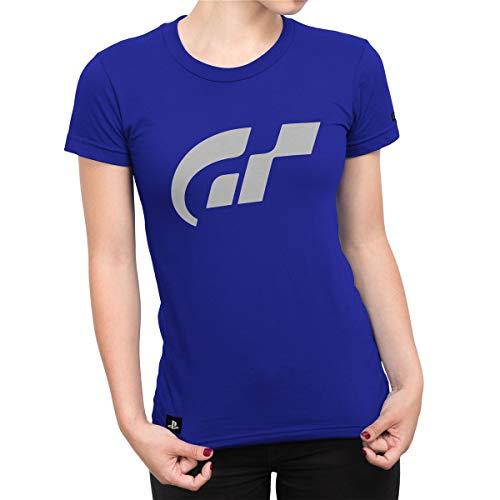 Camiseta Gran Turismo Feminina Isolated - Azul Royal - Gg