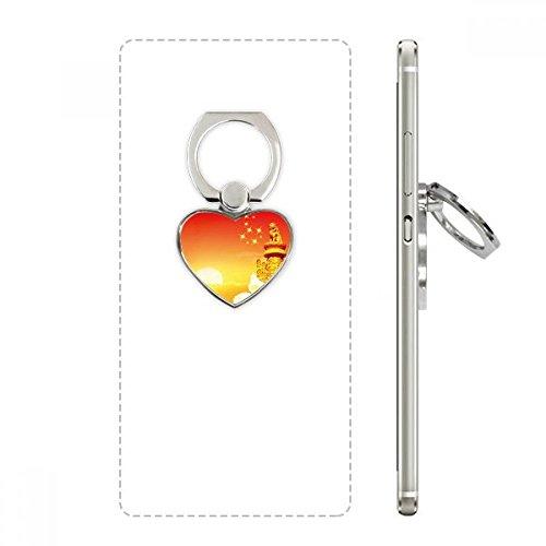 (Sun Star Ornamental Column Flag Heart Cell Phone Ring Stand Holder Bracket Universal Support Gift)