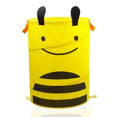 LL-Partner Cartoon folding laundry basket Toy Storage Basket storage basket of dirty clothes practical home organize admission Bees by LL-Partner (Image #4)