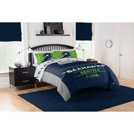(Official Seattle Seahawks Full Sheet and Comforter Set)