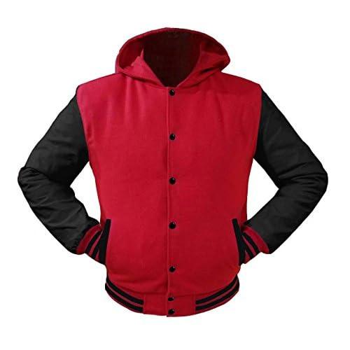 cheap Superb Leather Sleeve Original American Varsity Letterman College Baseball Kid Wool Hoodie Jackets #BBB