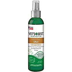 Vet's Best Flea & Tick Spray, 8 oz, USA Made