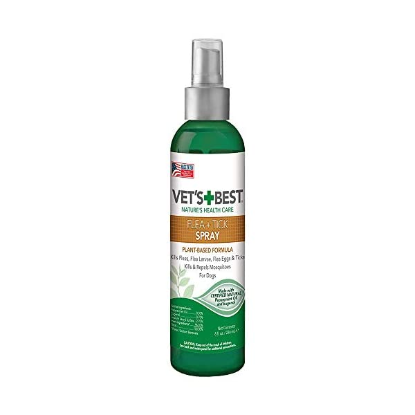 Vet's Best Flea and Tick Home Spray | Flea Treatment for Dogs and Home | Flea Killer with Certified Natural Oils 1