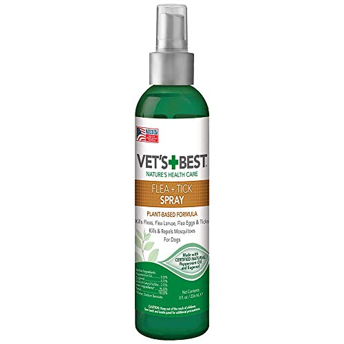 Vets Best Flea & Tick Spray | Flea Treatment & Mosquito Repellent for Dogs | Flea Killer with Certified Natural Oils | 8 oz (Vet's Best Flea And Tick Spray Ingredients)