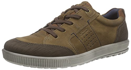 Ecco Mens Ennio Cravate Mode Sneaker Café / Chameau