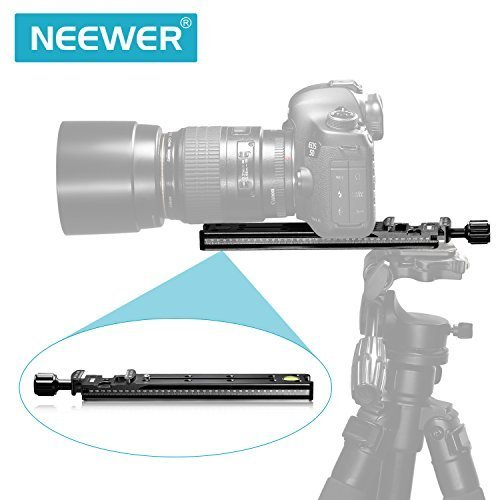 Neewer 200mm Professional Rail Nodal Slide Metal Quick Release Clamp for Camera with Arca Swiss Compatible