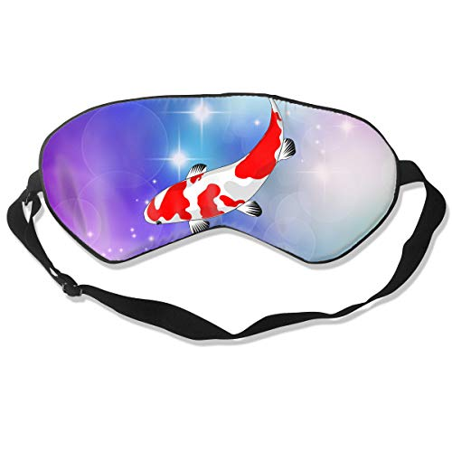 Sleep Mask Koi Fish for Women & Men Night Blindfold Light Blocking Comfortable Eye Shade Sleeping Aid with Adjustable Strap for Travel Nap Shift Work ()