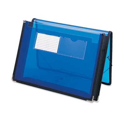 Two Inch Accordion Expansion Ultracolor Wallet, Poly, Letter, Translucent Blue, Total 12 EA, Sold as 1 Carton