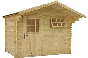 Fonteyn Heleen - Cobertizo para jardín (tejado de Dos vertientes, 300 x 200 cm, sin Tratar): Amazon.es: Jardín