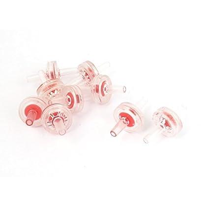 eDealMax Bomba plástico acuario pecera de aire unidireccional de retención Válvulas 9pcs Rojo Claro