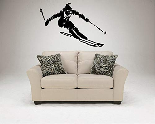 - Cenrial Quotes Art Decals Vinyl Removable Wall Stickers Olympics Games Snow Sticker Ski Resert Alpine Nordic Downhill Giant Slalom Livingroom Decor Decals