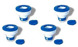 4Swimline piscina Hydrotools 8725ajustable flotante cloro dispensadores