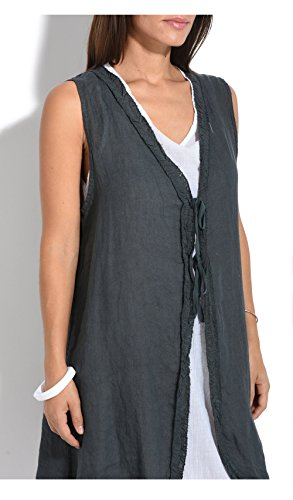 100 Lin weiss Grau Beatrice Anthracite ZZq0Ordw