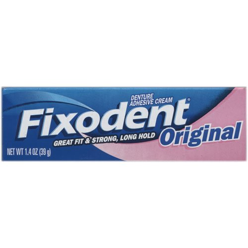 Fixodent Denture Adhesive Cream Original 1.4 Ounce (41ml) (6 Pack)