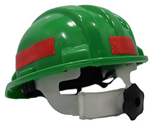 Aktion Safety Helmet AKH-14 with Reflective Band Rachet Type – Green (Pack of 1)