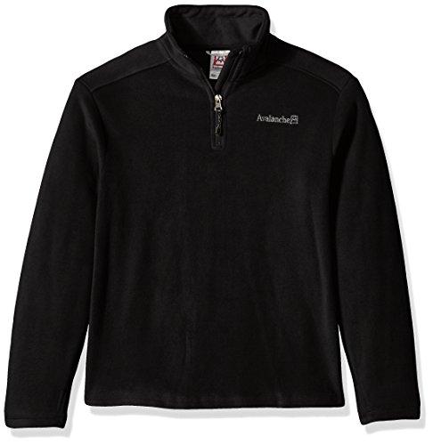 Avalanche Big Boys' Quarter Zip Fleece Pullover, Alpine Black, 8 - Alpine Kids Sweater