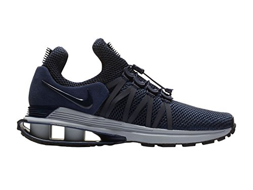 NIKE Men's Shox Gravity Obsidian/Midnight Navy/Wolf Grey Synthetic Running Shoes 8.5 (D) M US