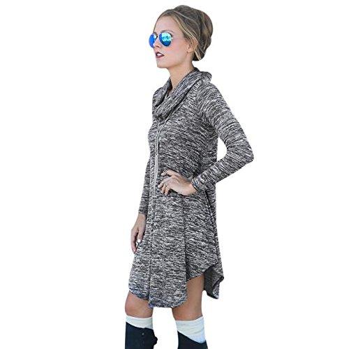 Sannysis Frauen Langarm-Knit Pullover Winter Pullover Kleid