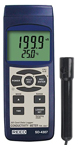 - REED Instruments SD-4307 SD Series Conductivity/TDS/Salinity Datalogger