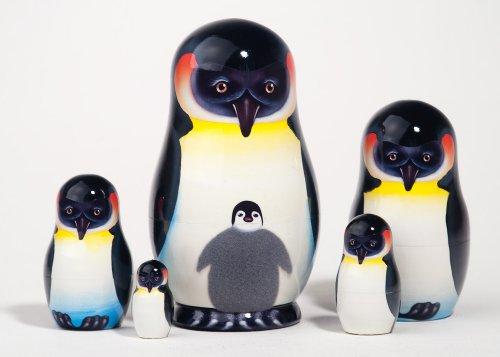 Penguin Nesting Dolls - Emperor Penguin Nesting Doll 5pc./5
